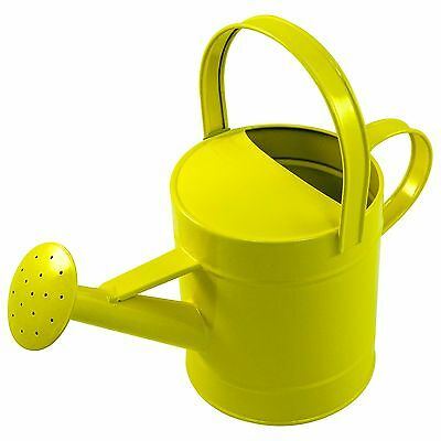 Childrens Yellow Metal Watering Can Large (22cm)