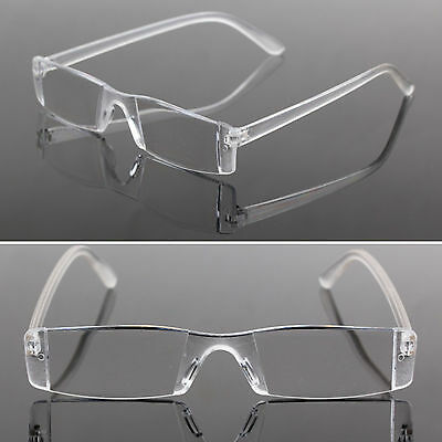 yeah New Presbyopia 1.00-4.00 Diopter Eyeglasses Clear Rimless Reading Glasses