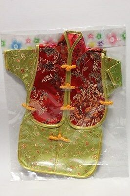 Chinese Cheongsam Style Wine Bottle Cover Red & Gold/Green