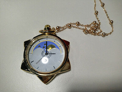 Sailor Moon Moonlight Memory 20th Anniversary Crystal Necklace Pocket Watch NEW