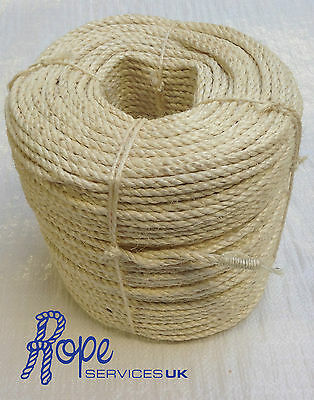 6mm, Sisal Naturel Corde Bobines, Pont, Jardin, Chat Grattage Post Perroquet • EUR 4,27