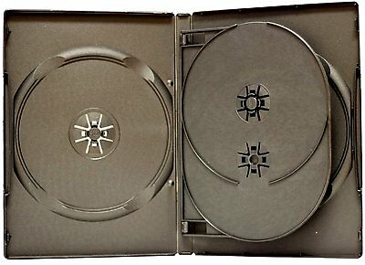 4 ESTUCHES / CAJAS CUADRUPLES - 4 DVD - ESTANDAR 14mm con bandeja interior - CD
