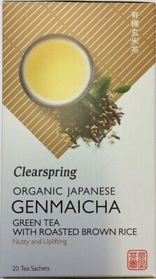 Clearspring Japanese Organic Genmaicha Green Tea With Roasted Rice 20 Bags 40g