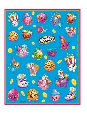 100 Shopkins Stickers on 4 sheets, perfect Birthday Party Loot Bag Fillers