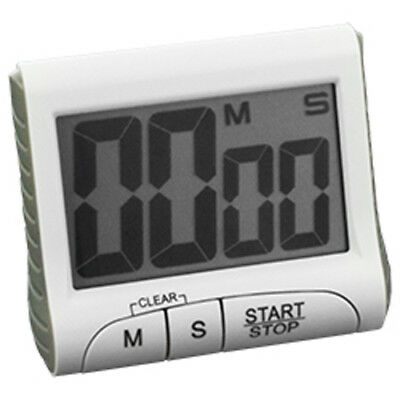 Magnetic digital Kitchen Timer Eggtimer Countdown Egg Stoppuhr - White Weiß