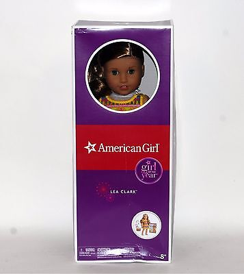 """American Girl Lea Clark Doll and Paperback Book American Girl of 2016 18"""" New"""
