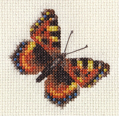 TORTOISESHELL BUTTERFLY ~ Complete cross stitch kit + all materials
