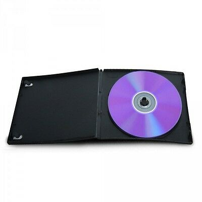 50 ESTUCHES COMPACTOS SLIM SIMPLES - 1 DVD - 7 mm - CD BLURAY - Tamaño CAJA CD