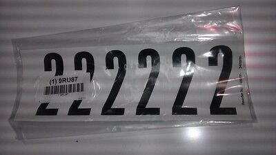 "Number Label, 2, White 3"" H, Pk 5 #34099W2 (M0980-9Ru87)"