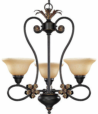Nuvo Lighting Chandelier Rustic Bronze Finish Bedroom Entry Kitchen Dining Hall