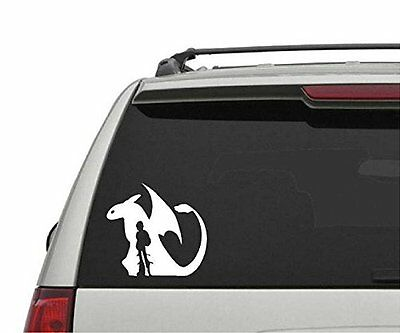 How to Train Your Dragon Toothless and Hicup Car Vinyl die cut Decal Sticker