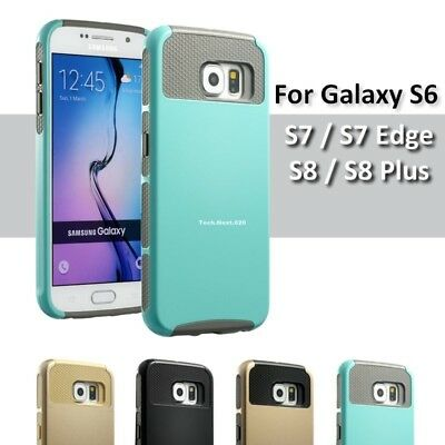 For Samsung Galaxy S6 S7 Case edge Hybrid Shockproof Heavy Duty Cover