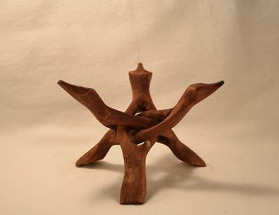 4 Inch WOOD COBRA Bowl DIsplay Stand for Abalone Shell and Smudging Bowl Stand