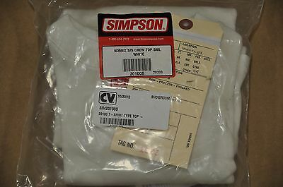 Simpson Soft Knit Nomex Short Sleeve Crew Neck Top Small Natural