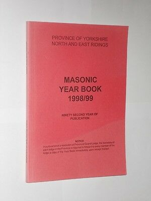 Masonic Year Book Province Of Yorkshire North And East Ridings 1998/99.