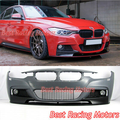 Performance Style Front Bumper Lip Fog Fit 12 18 Bmw F30 F31 3