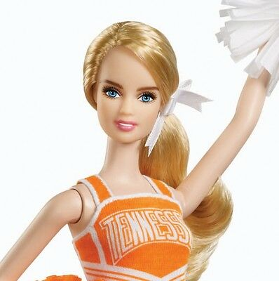 BARBIE COLLECTOR DOLL UNIVERSITY of TENNESSEE Pink Label Cheerleader