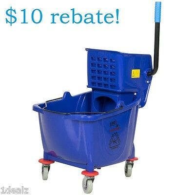 Industrial Lavex Janitorial Blue 36 Quart Mop Bucket & Wringer Combo with bonus