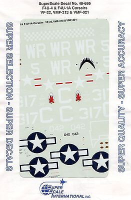 Super Scale International 48-695 - Decals 1/48 F4U-4 & F4U-1A Corsairs
