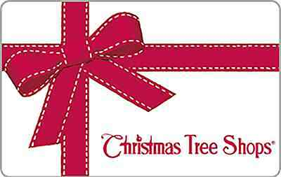 Christmas Tree Shops Gift Card $25 $50 $100 - Email delivery