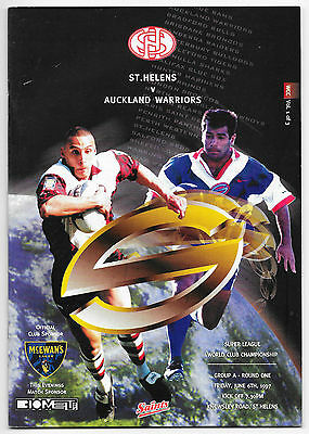 St. Helens v Auckland Warriors, 1997 - World Club Championship Programme.
