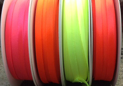 choice of colours per 5 mtrs Satin woven acetate Bias Binding Tape 19mm