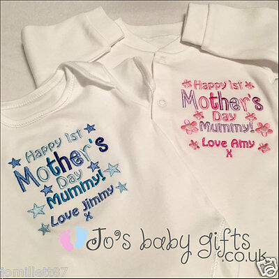 personalised Baby Clothes Bib,Vest or Sleepsuit, First Mother's Day Unique Gift