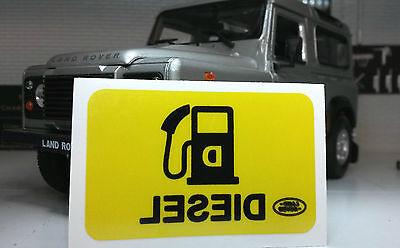 Land Rover Defender TD5 TDCi TDi Diesel Fuel Filler Window Warning Badge Decal