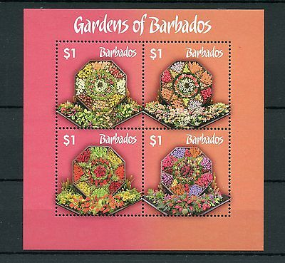 Barbados 2014 MNH Gardens of Barbados 4v M/S Flowers Flora Nature