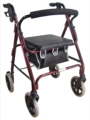 GREAT $ BUY  DeLuxe Rollator RED VP176A  QUALITY Aidapt  Lightweight - SHIP FREE