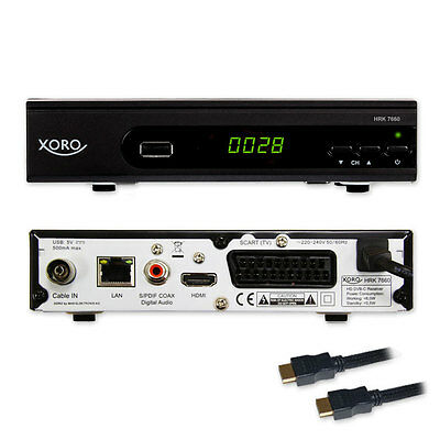 HD Kabel Receiver Xoro Digital HRK 7660 DVB-C USB TV Aufnahme PVR Mediaplayer C