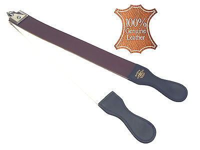Professional Barber Leather Strop Straight Razor Sharpening Shaving Strap NEW