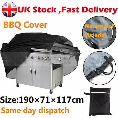 Extra Large Heavy Duty Waterproof Rain Snow BBQ Cover Barbeque Grill Protector