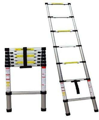 New 2 M Telescopic Aluminium Folding Multi Purpose Extending Step Ladder Dlt206