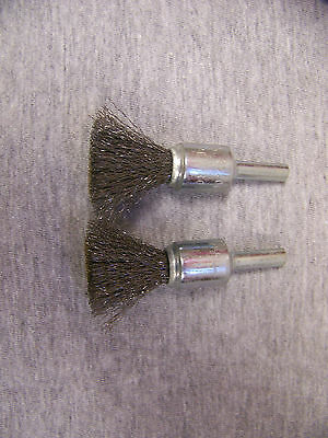 """1/2"""" Solid End Brush .006 Carbon 1/4"""" Shank - Qty 2"""