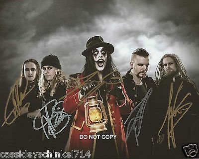 "Avatar Swedish Heavy Metal band Reprint Signed 8x10"" Photo #3 RP ALL 5 Members"