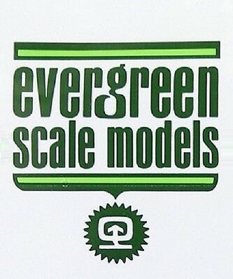 EVERGREEN SCALE MODELS - T COLUMN STYRENE COLONNA T STIRENE BIANCO 8x8