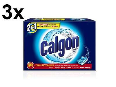 CALGON Kit 90 Tabletten Calgon 2 in 1- (450 Gramm) anti-Pads Waschmaschine