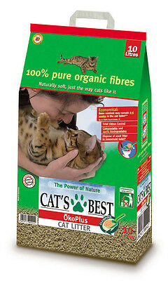 Cats Best Okoplus Clumping Cat Litter 10,  Litre Compostable Biodegradable