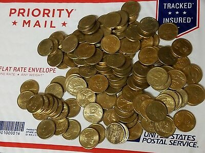 Random lot of $100 in Circulated Dollar Coins. Real & Spendable U.S. Money! Fast