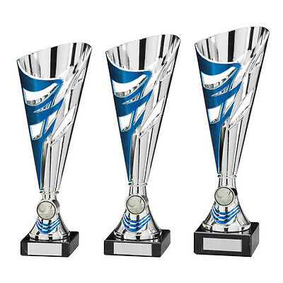 Blue/Silver Modern Cup 3 sizes Trophies Football Dance Sport Cups FREE Engraving