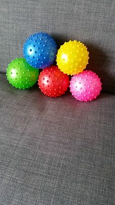 MASSAGE SPIKEY MASSAGE AND STRESS BALLS 5COLOURS #UKstock# Flat Pack Read Please