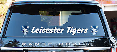 Leicester Tigers Rugby themed decal window sticker &  logo 80cm long free P&P