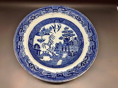 Vintage Willow Pattern Bowl - Approx 26 cm