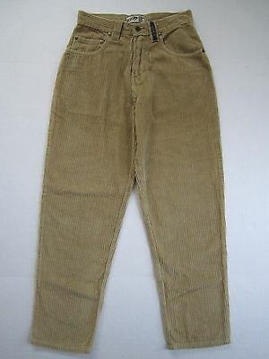 Boys Corduroy Skater Pants 26x28 Teen Skate Board Slacks Khaki Surf Trousers NOS