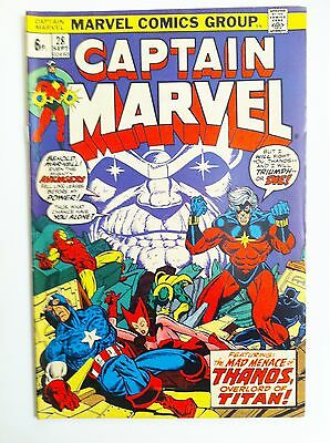 Captain Marvel 28 Marvel 1973 Thanos Saga  Jim Starlin Art