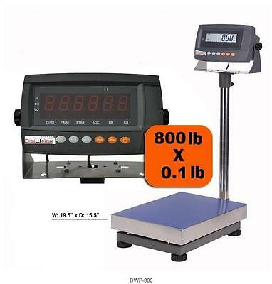 Industrial Digital Bench Scale 800 LB X 0.02 LB, Heavy Duty, Large Plate  NEW