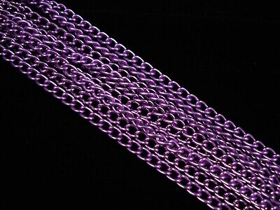 1m Anodised Aluminium Orchid Long Curb 6mm Chain Jewellery Making FREE POSTAGE