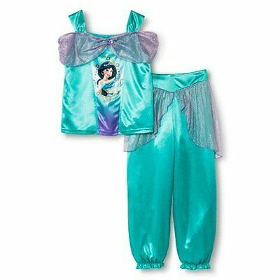 NWT 2 Pc Pajamas Set DISNEY Princess Jasmine Aladdin Costume 4 5 6 7 8
