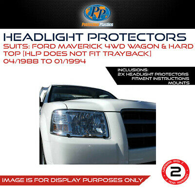 HEADLIGHT PROTECTOR FOR NISSAN PATROL GQ/FORD MAVERICK 87-95 LAMP COVERS CLEaR